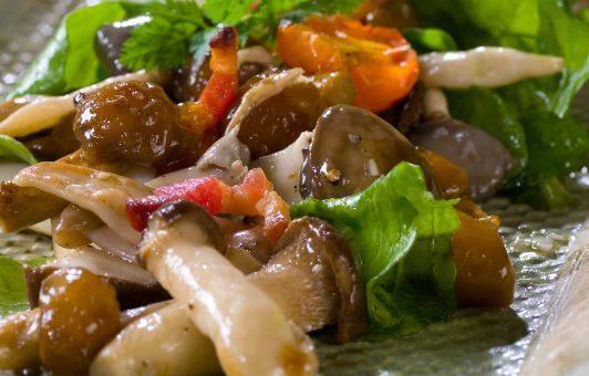 салат из свежих грибов